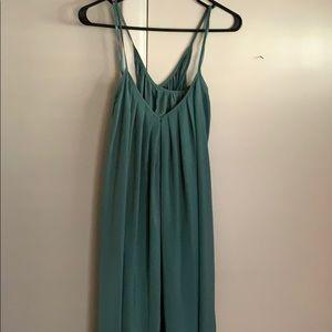 Flowy sea foam green dress